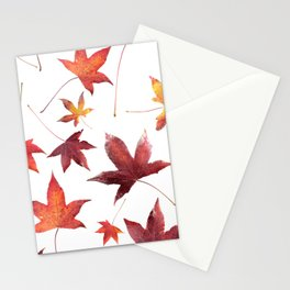 Dead Leaves over White Stationery Cards