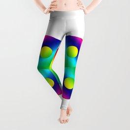 Rainbow ying yang Leggings