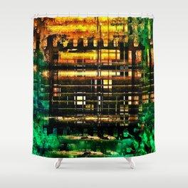 BURNING HOUSE Shower Curtain