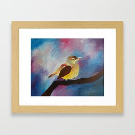 Bird in Universe Framed Art Print
