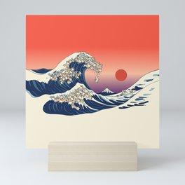 The Great Wave of Corgis Mini Art Print