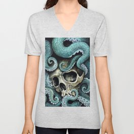 Please my love, don't die so far from the sea... Unisex V-Neck