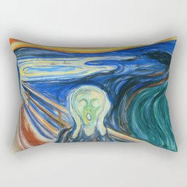 "Edvard Munch ""The Scream"" (1910) Rectangular Pillow"