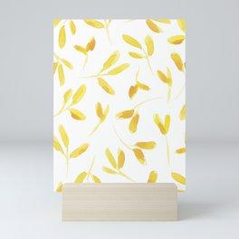 Yellow Leaves Mini Art Print