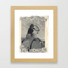 vintage image, handmade collage Framed Art Print
