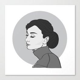 Miss Hepburn Canvas Print