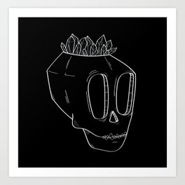 Diamond Skull Art Print