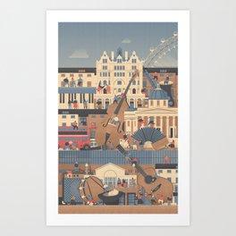 London Buskers Art Print