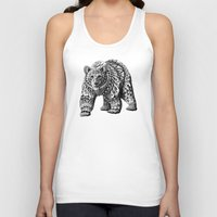 bioworkz Tank Tops featuring Ornate Bear by BIOWORKZ