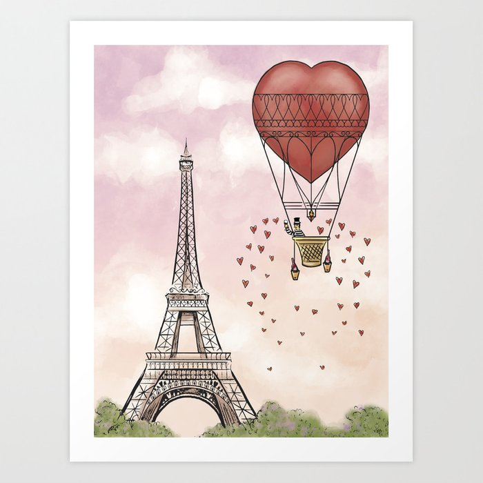 From Paris, With Love Art Print