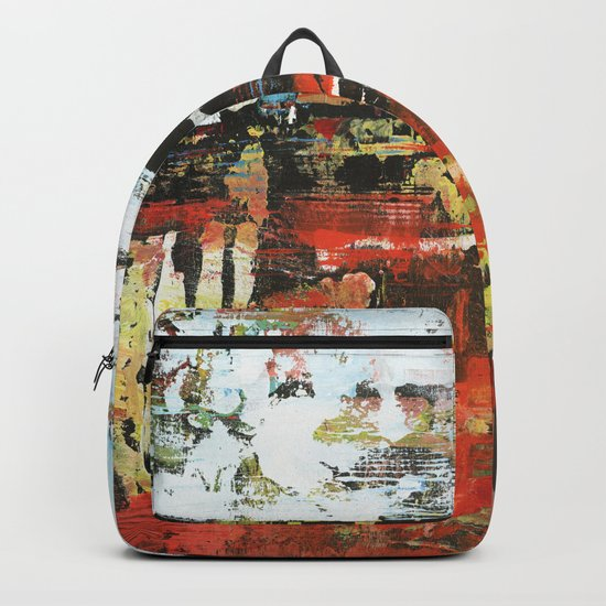 Jacksonville Orange Abstract Painting Backpack