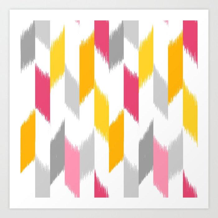 Ikat Stripes Art Print by pattysloniger | Society6