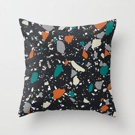 Modern Terrazzo Collage 06 Throw Pillow