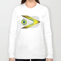 brasil Long Sleeve T-shirts featuring Brasil by ilustrarte