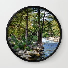 Guadalupe River in Gruene Texas Wall Clock