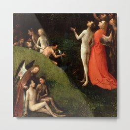 """Hieronymus Bosch """"Visions from the Hereafter - The Garden of Eden"""" Metal Print"""