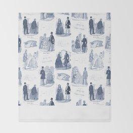 Biedermeier Blue Romance Throw Blanket
