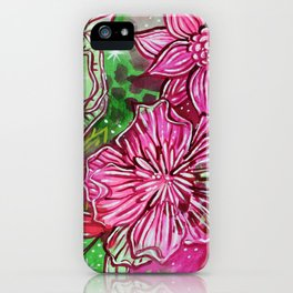 Floral Holiday iPhone Case
