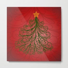 Abstract Christmas tree Metal Print