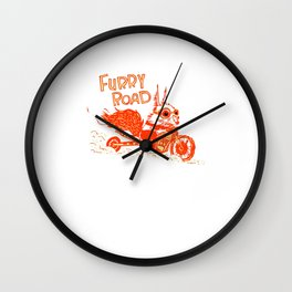 Furry Roadster Wall Clock