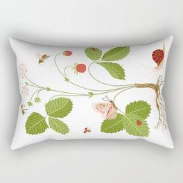 Wild Strawberries Rectangular Pillow