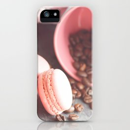 Sweet cakes with coffeebeans in a cup iPhone Case