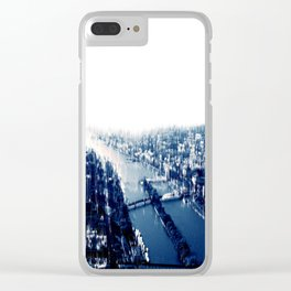 Distorted Paris Clear iPhone Case