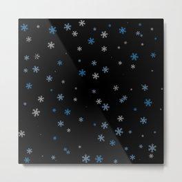Snowy Blues | Veronica Nagorny Metal Print