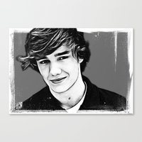 liam payne Canvas Prints featuring Liam Payne by D77 The DigArtisT