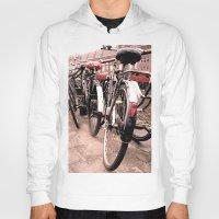 bikes Hoodies featuring Amsterdam Bikes by Ann Yoo
