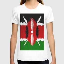 Extruded Flag of Kenya T-shirt