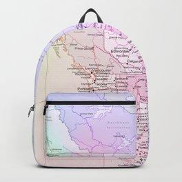 World Map North America Backpack
