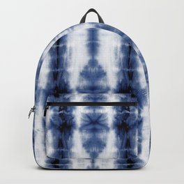 Tiki Shibori Blue Backpack
