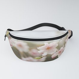 Blush Pink Cherry Blossoms on Brown Fanny Pack