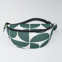 Mid Century Modern Geometric 04 Dark Green Fanny Pack
