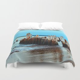 Beach Relics of a Time Gone By Duvet Cover