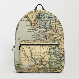 North England and Wales Vintage Map Backpack