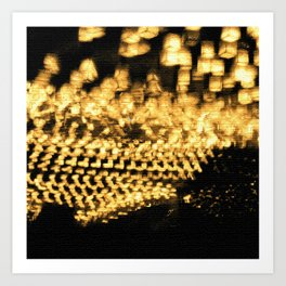 Countless lights Art Print