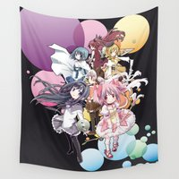madoka Wall Tapestries featuring Puella Magi Madoka Magica - Only You by Yue Graphic Design