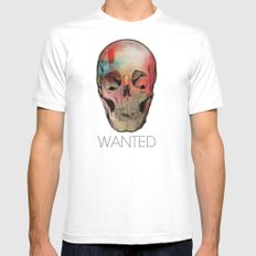 Wanted MEDIUM White Mens Fitted Tee