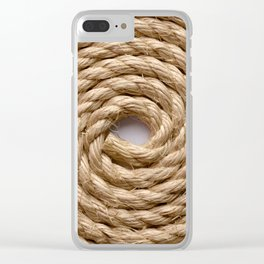 Sisal rope Clear iPhone Case