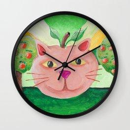 Georgia Cat Wall Clock