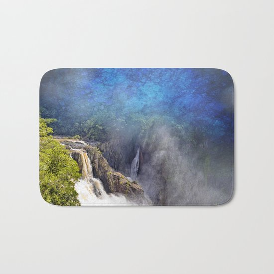 Wild waterfall in abstract Bath Mat