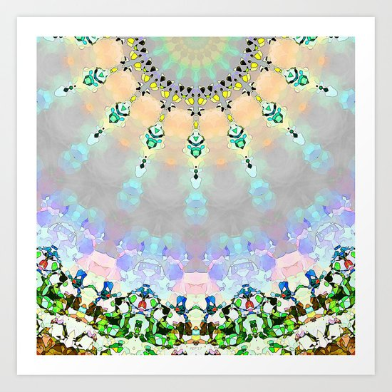 Abstract Sunshine Mosaic Art Print