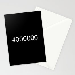 #000000 Black Stationery Cards