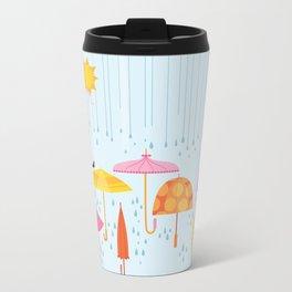 Pretty Parasols for Precipitation LineUp Travel Mug