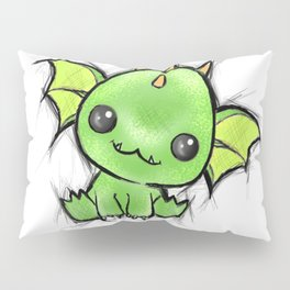 Baby Dragon Kawaii Pillow Sham