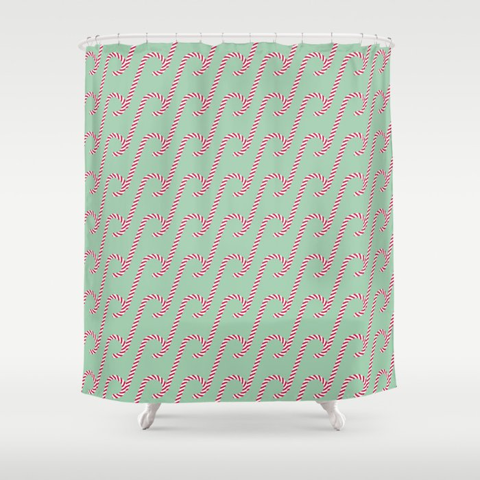 Candy Cane Pattern 4a Shower Curtain
