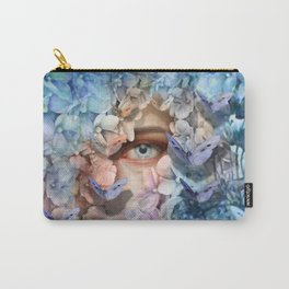 """""""Waiting for spring among blue flowers"""" Carry-All Pouch"""