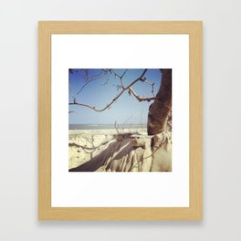 Beach in Sight Framed Art Print